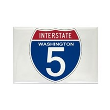I-5 Washington Rectangle Magnet