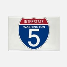 I-5 Washington Rectangle Magnet