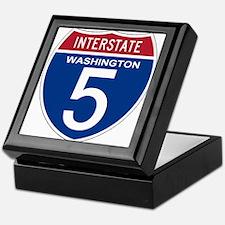 I-5 Washington Keepsake Box