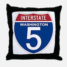 I-5 Washington Throw Pillow