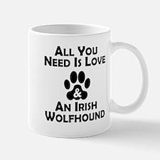 Love And An Irish Wolfhound Mugs