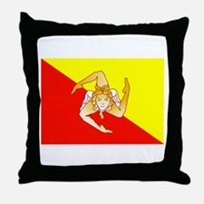 Sicily Flag Throw Pillow