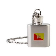 Sicily Flag Flask Necklace