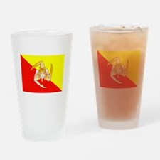 Sicily Flag Drinking Glass