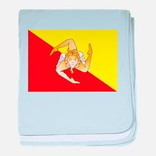 Sicily Flag baby blanket