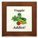 Veggie Addict Framed Tile