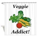 Veggie Addict Shower Curtain