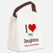 I love My Daughters Canvas Lunch Bag