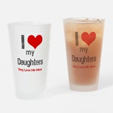 I love My Daughters Drinking Glass