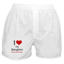 I Love My Daughter Boxer Shorts