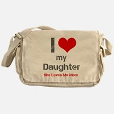 I Love My Daughter Messenger Bag
