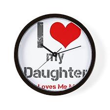 I Love My Daughter Wall Clock