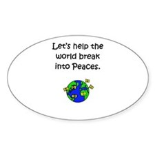 Break for Peace Oval Decal