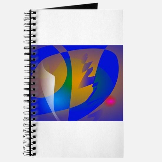 Striking Blue Abstract Art Journal