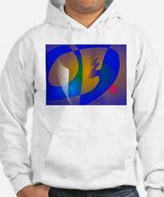 Striking Blue Abstract Art Hoodie