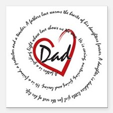 "Fathers Day Dad Square Car Magnet 3"" x 3"""