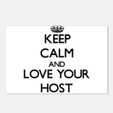 Keep Calm and Love your Host Postcards (Package of