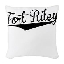 Fort Riley, Retro, Woven Throw Pillow
