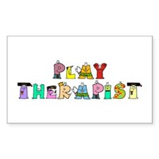 Play Therapist Rectangle Decal