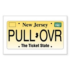 Pull Over Rectangle Stickers