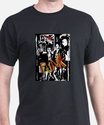 Punk Rock music fashion art and design T-Shirt