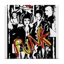 Punk Rock music fashion art and design Tile Coaste