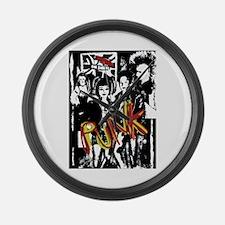 Punk Rock Music Fashion Art And Large Wall Clock