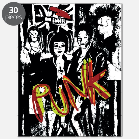 Punk Rock Music Fashion Art And Design Puzzle