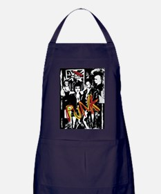 Punk Rock music fashion art and design Apron (dark