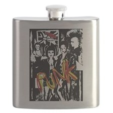 Punk Rock music fashion art and design Flask