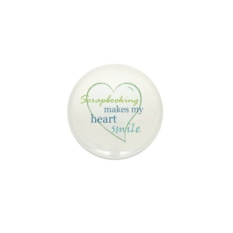 Scrapbooking makes my heart smile Mini Button (100