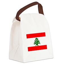 Lebanon Flag Canvas Lunch Bag