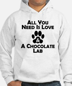 Love And A Chocolate Lab Hoodie