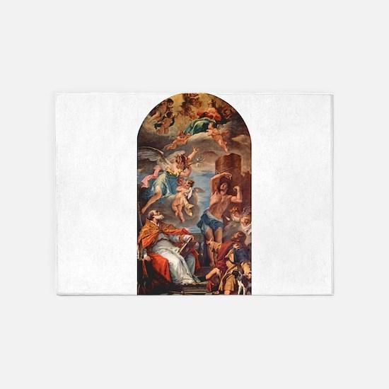 Ricci - Maria Gloria with Archangel Raphael and St