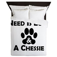 Love And A Chessie Queen Duvet