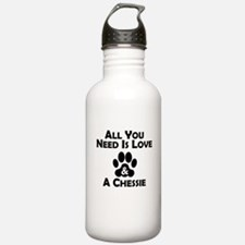Love And A Chessie Water Bottle