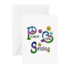 Peace Love Sewing Greeting Cards (Pk of 10)