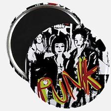 Punk Rock music fashion art and design Magnets