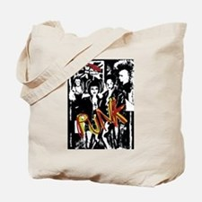 Punk Rock music fashion art and design Tote Bag