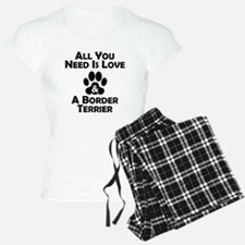 Love And A Border Terrier Pajamas