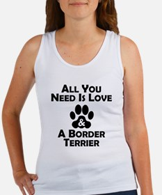 Love And A Border Terrier Tank Top