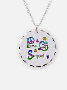 Peace Love Scrapbooking Necklace