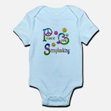 Peace Love Scrapbooking Infant Bodysuit