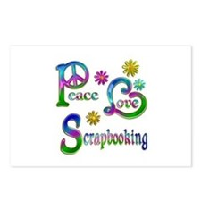 Peace Love Scrapbooking Postcards (Package of 8)