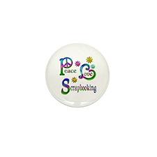 Peace Love Scrapbooking Mini Button (10 pack)