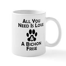 Love And A Bichon Frise Mugs