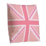 Pink union jack Burlap Pillows
