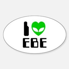 I Alien Heart EBE Decal