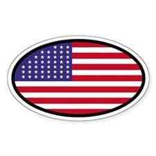 Star Spangled Oval Oval Decal