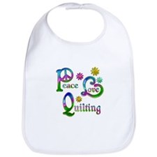 Peace Love Quilting Bib